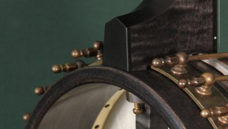 Longneck Custom Banjo with Raw Brass Hardware