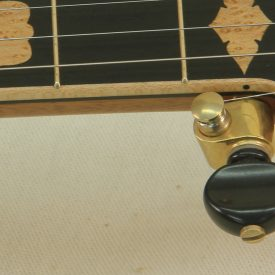 Custom banjo with wood fretboard binding