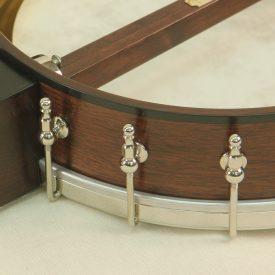 Custom banjo with rim binding