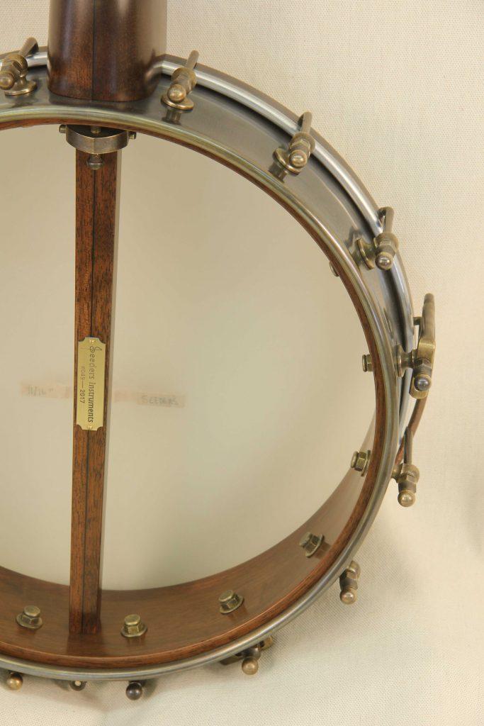 Custom Spunover Slothead Banjo Rim Detail
