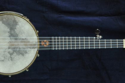 Custom Dog Inlaid Print Piccolo Banjo