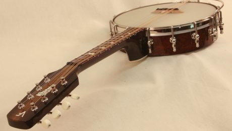 Custom Banjo Mandolin With Vermont Inlay