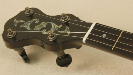 Custom Banjo with Engraved Mother of Pearl Inlays