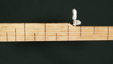 Walnut and Cherry Custom Banjo with Flush Fret Fingerboard