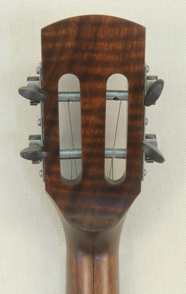 Custom Spunover Slothead Banjo with Figured Claro Walnut