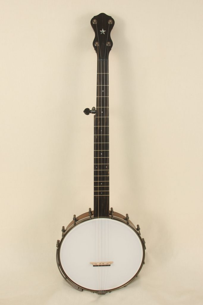 096 - 11inch Walnut Banjo with Rolled Brass Tone Ring-1