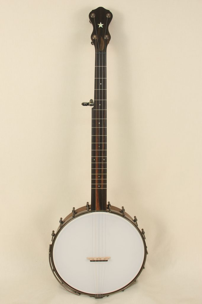 097 - 12inch Walnut Banjo with Rolled Brass Tone Ring-1