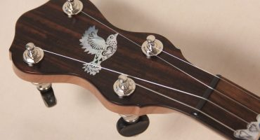 074 Hillary Hawke Eclipse Engraved Banjo